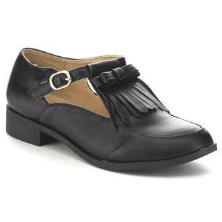 Bella Marie Leann-1 Women's Fringe Heel Loafers