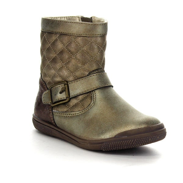 Beston Ga97 Diamond Shape Quilted Deco Mid Calf Boots