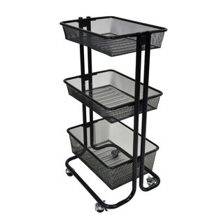 Luxor Kitchen Utility Cart in Black