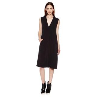 Vince Women's Pleated Front V-Neck Dress
