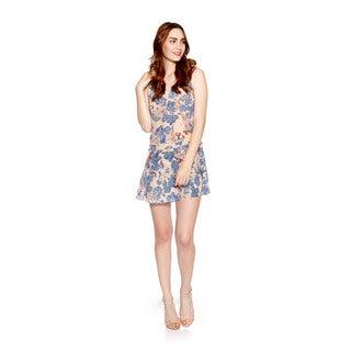 Cynthia Vincent Drop Waist Paisley Print Dress