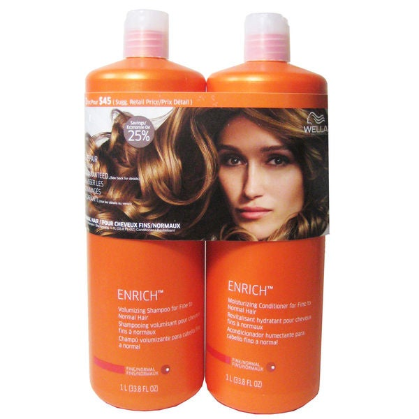 Wella Enrich Moisturizing Shampoo and Conditioner Duo for Fine Hair