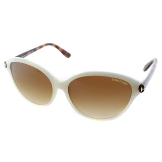 Tom Ford Women's Priscilla Ivory Plasic Cat Eye Sunglasses