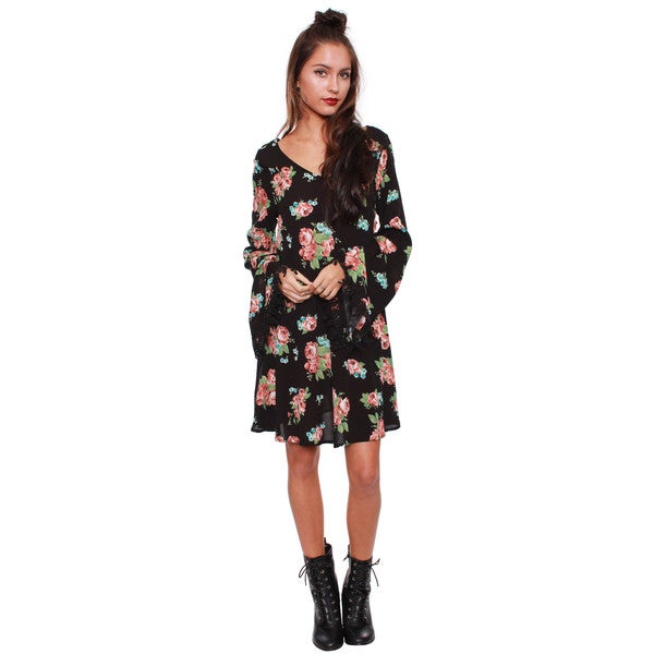 Beston Juniors' Long Sleeve Shift Dress