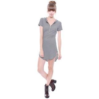 Beston Juniors' Striped Hoodie T-shirt Dress