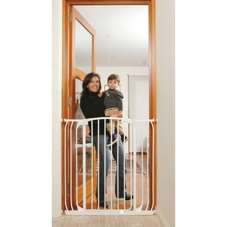 Dreambaby Chelsea Tall Xtra Hallway Swing Close Gate Combo Pack (includes 1 x 3.5-inch and 1 x 7-inch extension)