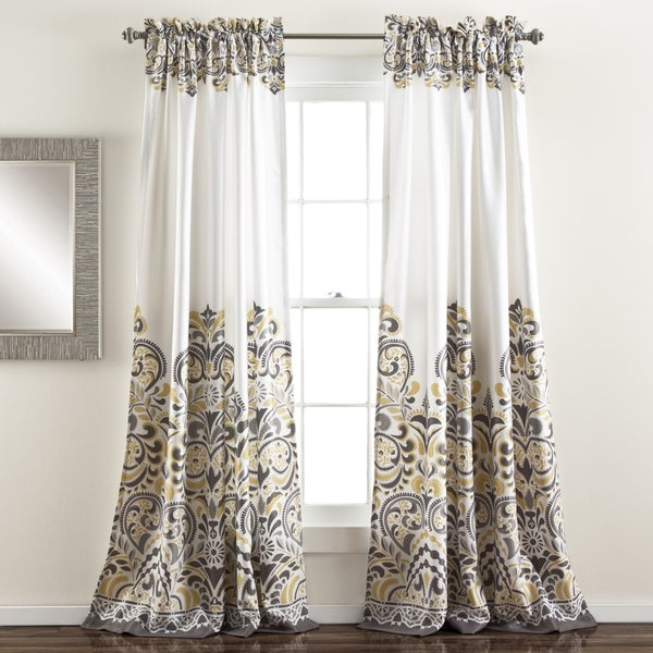 Lush Decor Clara 84 Inch Room Darkening Window Curtain