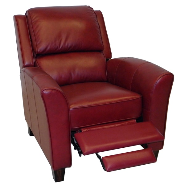 Carnegie Crimson Red Premium Top Grain Italian Leather Recliner Chair