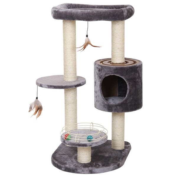 PetPals Infinity Luxury Cat Furniture with Multiple Racing Toys
