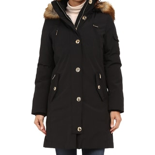 Michael Kors Women's Black Parka Coat