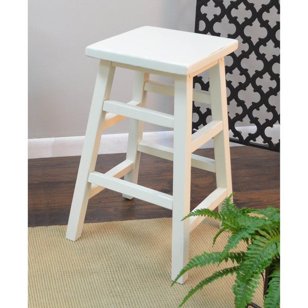 Weston 24-inch Pub Stool in Antique White(As Is Item)