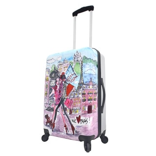 Mia Toro Italy Izak-Paris 24-inch Expandable Hardside Spinner Upright Suitcase