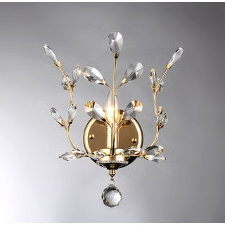 Ollie 1-light Gold 10-inch Crystal Wall Lamp