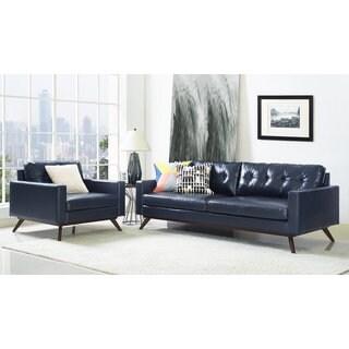 Blake Antique Blue 2-piece Living Room Set