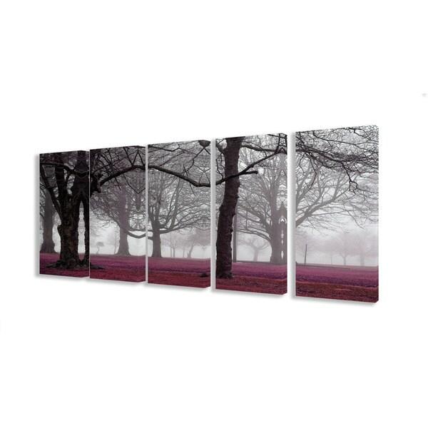 Photographic Foggy Trees 5-piece Canvas Art Set