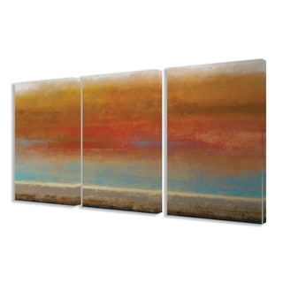 Stupell Harvest Sunset 3-piece Triptych Canvas Art Set