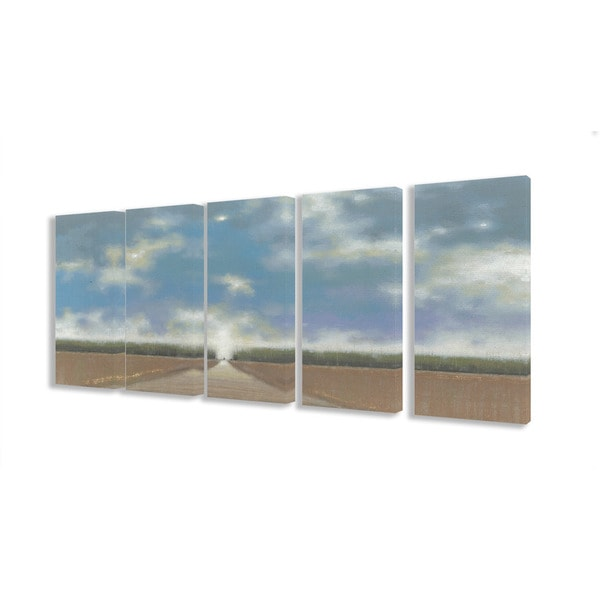 Blue Skies and Long Path 5-piece Canvas Art Set
