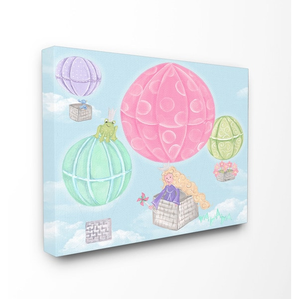 Hot Air Balloons Art 16-inch x 20-inch Canvas