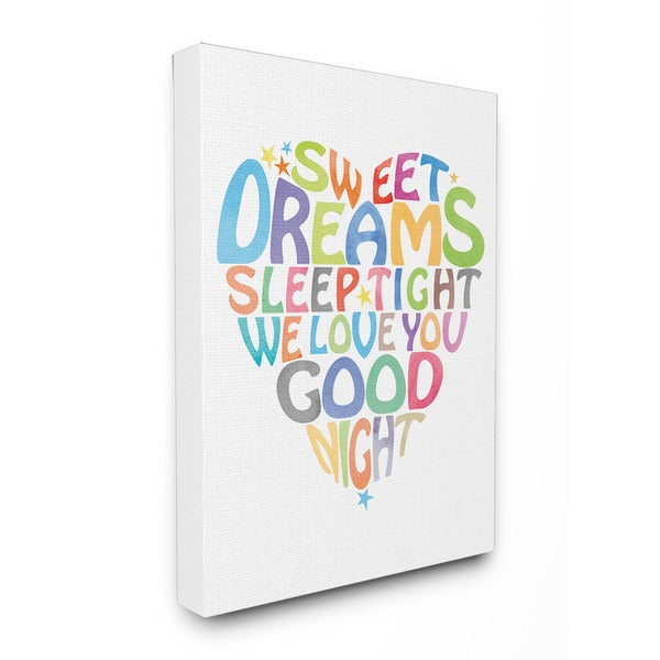 Sweet Dreams Heart Graphic Art 16-inch x 20-inch Canvas