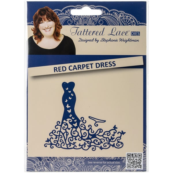 Tattered Lace Metal Die-Red Carpet Dres