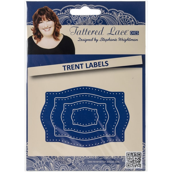 Tattered Lace Metal Die-Trent Label