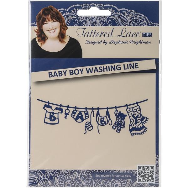 Tattered Lace Metal Die-Washing Line Baby Boy