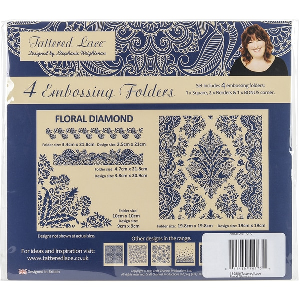 Tattered Lace Embossing Folders-Floral Diamond