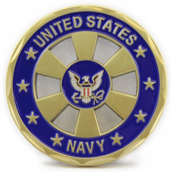 US Navy Wheel Cut Out Coin