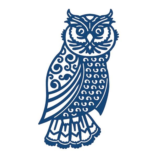 Tattered Lace Metal Die-Ornate Owl