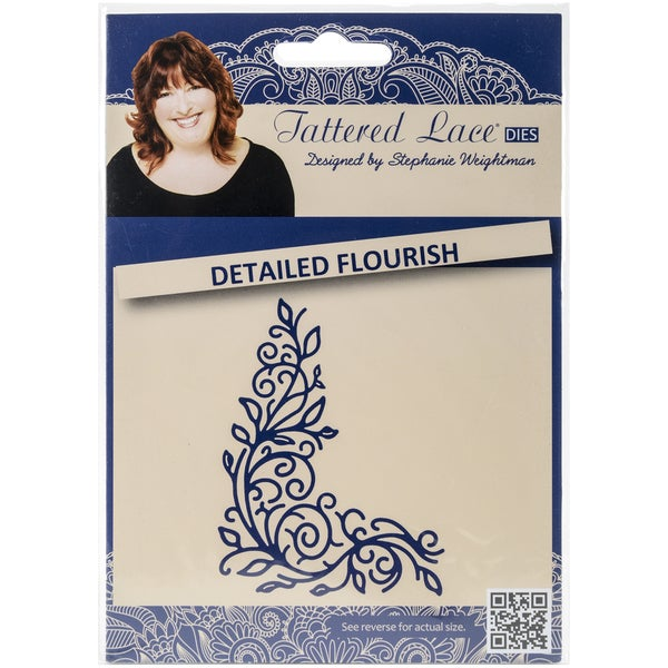Tattered Lace Metal Die-Detailed Flourish