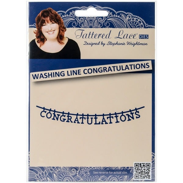 Tattered Lace Metal Die-Washing Line Congratulations