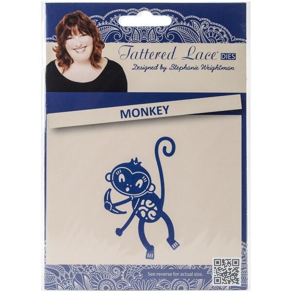 Tattered Lace Metal Die-Monkey