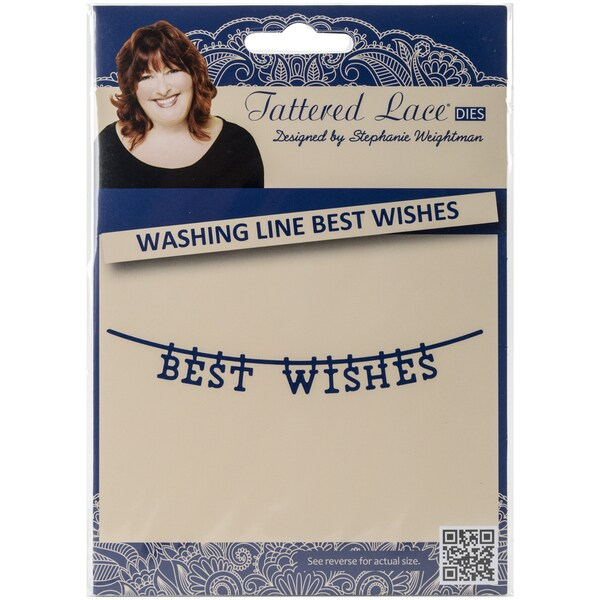 Tattered Lace Metal Die-Washing Line Best Wishes