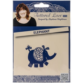 Tattered Lace Metal Die-Elephant