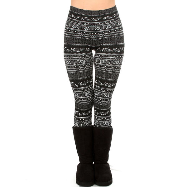 Comfy & Cozy Fleece Lined Jacquard Leggings
