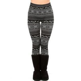 Comfy & Cozy Fleece Lined Jacquard Leggings