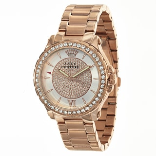 Juicy Couture Pedigree 1901233 Women's Stainless Steel Rose Gold Ion Plated Watch