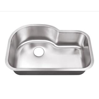 Undermount Stainless Steel-inch 0-Hole Single Bowl Kitchen Sink