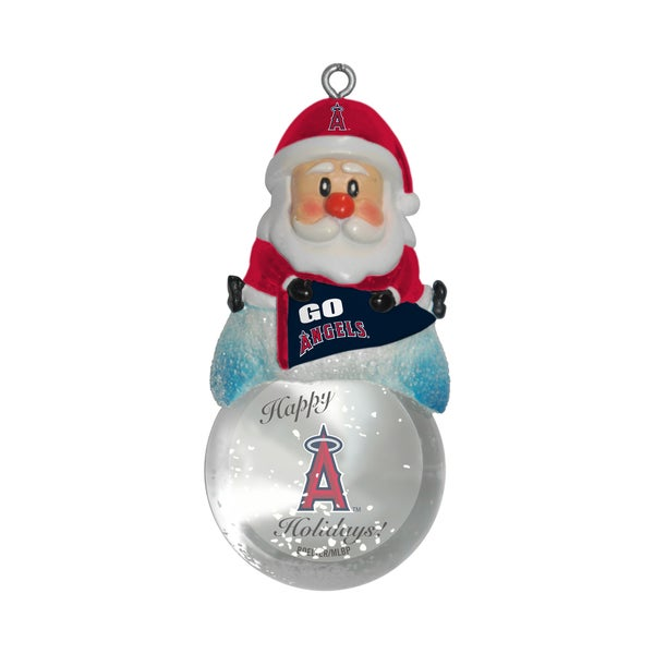 Los Angeles Angels Santa Snow Globe Ornament