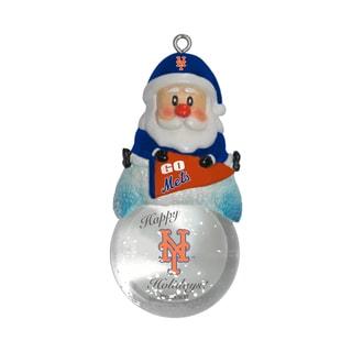 New York Mets Santa Snow Globe Ornament