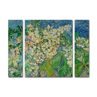 Vincent Van Gogh 'Chesnut Branches' Three Panel Set Canvas Wall Art