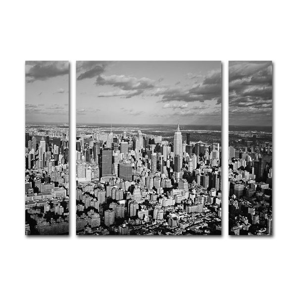Ariane Moshayedi 'Aerial City' Three Panel Set Canvas Wall Art