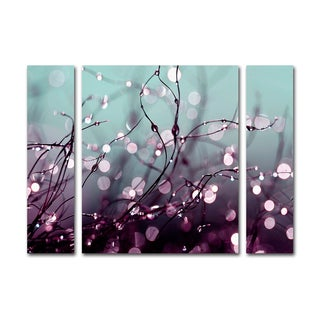 Beata Czyzowska Young 'Over the Rainbow' Three Panel Set Canvas Wall Art