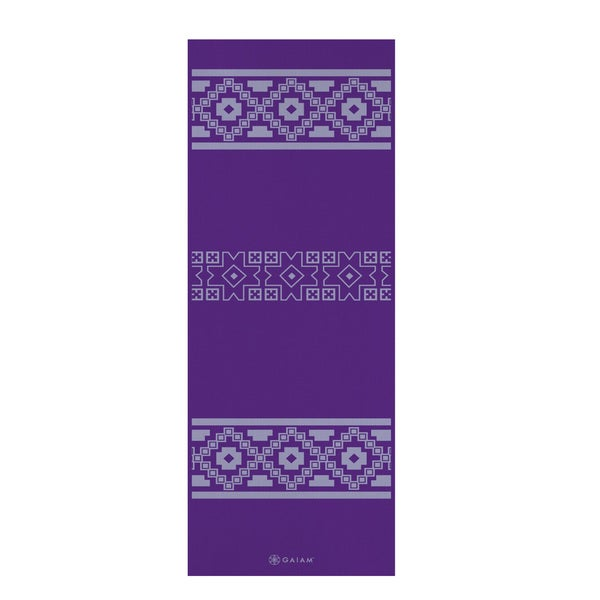 Gaiam Print Premium Taos Alignment Yoga Mat (5mm)