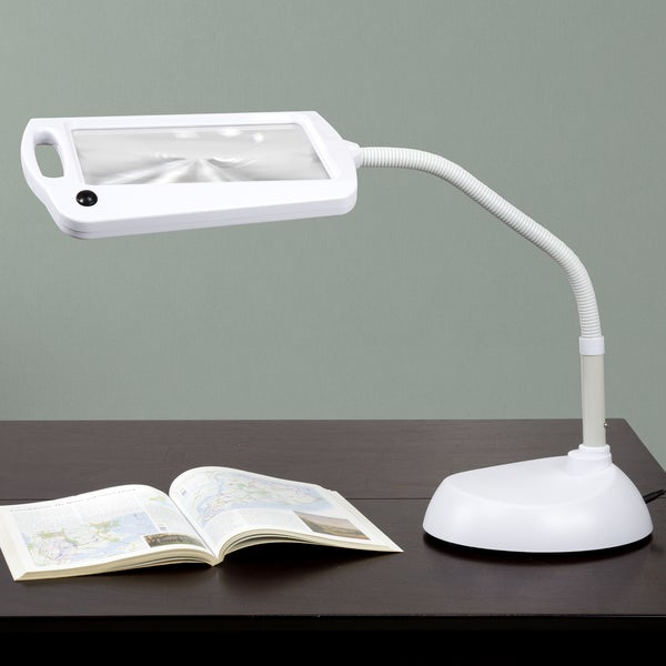 Everyday Home 5X Magnifying LED Sunlight 3 ft Desk Lamp
