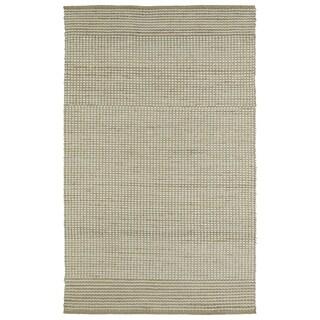 "Handmade Ivory Wool & Jute Frisco Rug (21"" x 34"")"