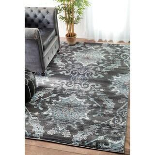 nuLOOM Vintage Adileh Reflection Grey Rug (8' x 10')