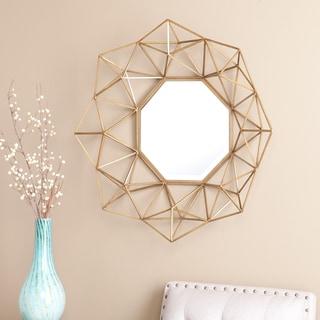 Silver Orchid Grant Gold Decorative Mirror