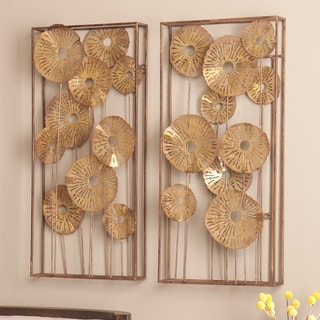 Upton Home Anca Gold Rectangular Wall Sculpture 2-piece Set