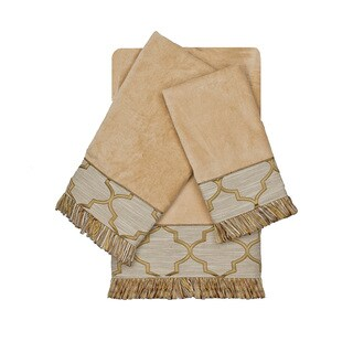 Austin Horn En'Vogue Ascot Gold 3-piece Decorative Embellished Towel Set